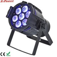 China 5 in1 15W RGBWA 7PCS LED Par Can Stage Lights , 15 ~ 40 degree Beam Angle wholesale