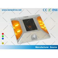 China Aluminum Solar Powered LED Raised Pavement Markers Road Light 10 Tons Resistance wholesale