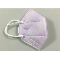 China Light Purple Non Woven Flat Fold KN95 Dustproof Mask wholesale