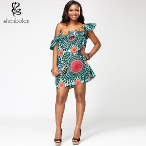 China Batik wax  African print dress  Ankara  sleeveless XS-XXXL  wholesale ladies'  boutique wholesale
