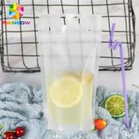 China Transparent Liquid Drink Food Pouch Packaging Bags Stand Up FDA With Handles / Straws wholesale