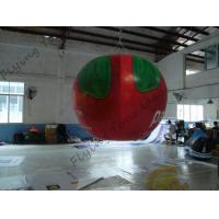 China B1 Fireproof PVC Apple Fruit Shaped Balloons With Full Digital Printing 3m Height wholesale