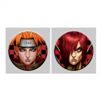 China Flip Badge One Piece 3D Lenticular Pin With Luffy Zoro Anime wholesale