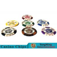 14g Custom Clay Poker Chips With Mette Sticker 3.4mm Thickness for sale