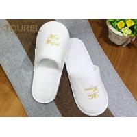 China Incredibly Disposable Hotel Slippers Comfortable Premium 100% Cotton Cloth SPA Slippers wholesale