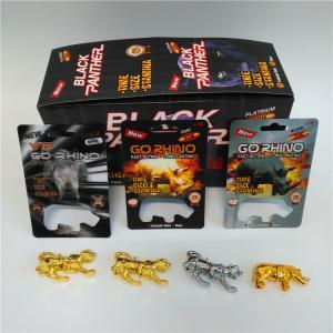 China Go Rhino Men Enhancement Pill Blister Card Packaging With Rhino Figure Blister Bottle wholesale