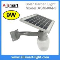 China 9W Solar Parking Lot LED Light Solar Garden Light LED Street Light With Solar Panel Mount On Lamp Pole Post wholesale