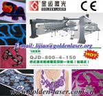 China Garment piece embroidery cutting machine laser bridge wholesale