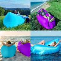 China Inflatable Couch Air Sleeping Sofa Lounger Outdoor Lazy Air Bed with Canopy wholesale