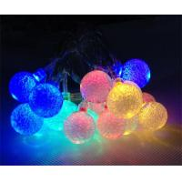 China christmas decoration battery operated crystal balls string light wholesale