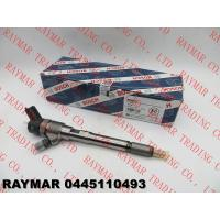 Buy cheap BOSCH Genuine common rail fuel injector 0445110493, 0445110494 for JAC 2.8D engine from wholesalers