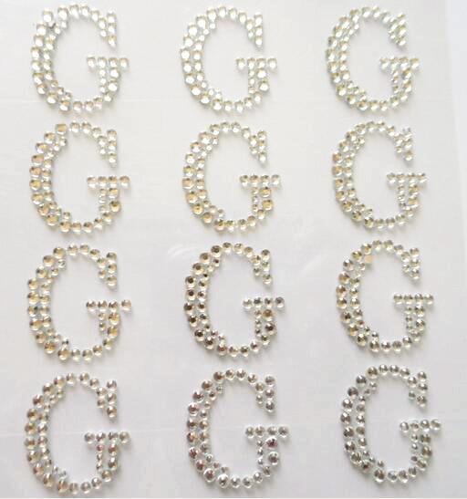 Glitter sticker self adhesive rhinestone letter sticker for Large adhesive rhinestone letters