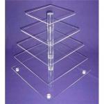 China 5-Tier Acrylic Bakery Display Case , Cupcake Food Display Stand Rack wholesale