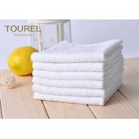 China White Cotton Washcloths 100% Long Stapled Luxury Face Flannels wholesale