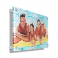 China Concise clear acrylic photo frames /wall mounted plexiglass picture holder / decorative lucite block wholesale