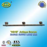 China Ref H019  Zinc Alloy Metal Coffin Handles zamak Casket long bar 1 meter 3 base wholesale