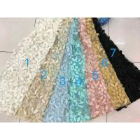 China 3D Flower Multi Colored Lace Fabric For Show / Embroidered Sequin Lace Fabric wholesale