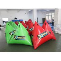 China Green Inflatable Marker Buoy / Inflatable Floating Water Park 3 Years Warranty wholesale