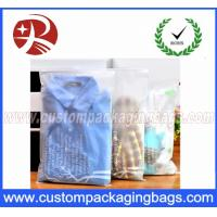 Cpe stronger plastic ziplock bags for packing clothes for Clear shirt packaging bags