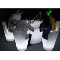 China Outdoor LED Furniture Arm Portable Chairs for Events , LED Bar Chair wholesale