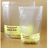 China Cream Yellow Transparent PE / NY /PET Plastic Pouches Packaging Window for Bread Food wholesale