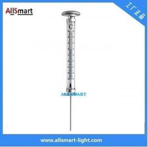 China solar power porch led lights solar temperature thermometer gauge spike garden lighting weatherglass solar lamp wholesale