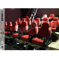China Red Hydraulic Mobile Theater Chair For 7D Movie Theater 1 Year Guaranty wholesale