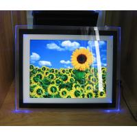 Quality Video / Audio / Photo 15 Inch Personalized Digital Photo Frame With LED Light for sale