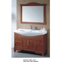 China Oak Wood Material Traditional Bathroom Vanities antique style 1200 * 480 * 850mm wholesale