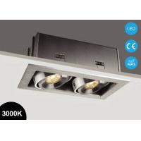China Double Heads 14W Square Adjustable COB LED Recessed Downlight 3000K 37V on sale