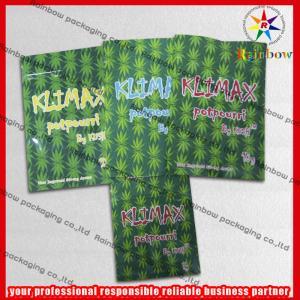 China Potpourri Herbal Incense Mini Ziplock Bags / Zip Plastic Bags in Green wholesale