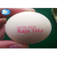 China Expiry Date Egg Printing Machine With Pink / Blue / Green Color Ink wholesale