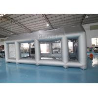 China Silver 7m Length Large Inflatable Auto Paint Booth 3 Years Warranty wholesale