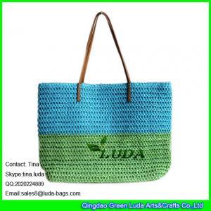 China LUDA paper bags paper straw crochet wholesale new fashion women handbag on sale