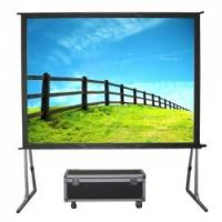 Buy cheap High Definition Fast Fold Screens , Customized Flexible Folding Projector Screen For Theater from wholesalers