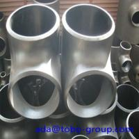 China Stainless Steel Pipe Tee A403 Wp304L Straight Tee Asme B16.9 Size 1/2 - 60 inch wholesale