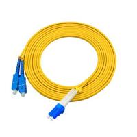China 3 Meters LC To SC Single Mode Fiber Jumpers Yellow Jacket Easy Installation wholesale