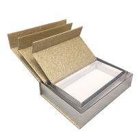 China Luxury Magnetic Xmas Gift Boxes With Lids Gold Glitter Paper Custom Size wholesale