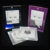 China tabletop custom clear acrylic baby footprint frame cute baby funny photo frame picture photo frame wholesale
