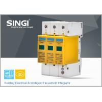 China 3 Pole Yellow Surge Protector Device , 1P , 2P , 3P , 4P lightning surge protector wholesale
