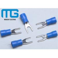 China SV 1.25-4 copper Insulated spade female terminals Fork-shaped Cable end terminals wholesale