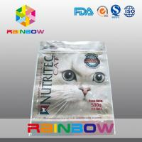 China Ziplock Packaging Bag / Customized Printed Pet Food Pouch Three Side Seal wholesale