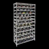 China Style Selections Wire Shelving , Metal Wine Shelf With 12 Layer Shelf 108 Bottles wholesale