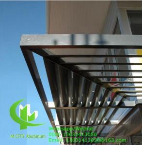 China 150mm Horizontal Fixed sun louver Architectural Aerofoil profile aluminum louver  for window sunshade wholesale