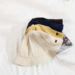 China Adult Unisex XXL Terry Towel Bucket Hats light yellow wholesale