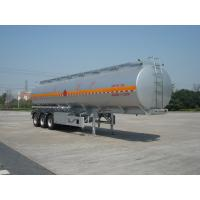 China 46000L Aluminum Alloy 3 Axles Diesel Oil Tank Trailer , Light Gasoline Trailer wholesale