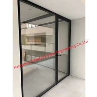 China Modern Design Interior Office Glass Movable Partition Wall with Door wholesale