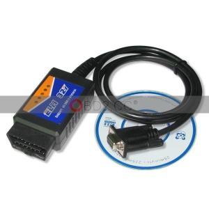 China USB ELM327 V1.4 PLASTIC OBDII EOBD CAN BUS SCANNER wholesale