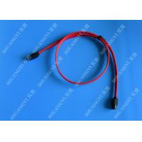 China Red 18 Inch Custom SATA Data Cables SATA III 6.0 Gbps For Blue Ray DVD CD Drives wholesale