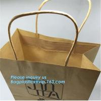 China Custom Luxury ribbon satin finish paper carrier bags with rope handles and ribbon bow fastener,Brand Lager Paper Carrier wholesale